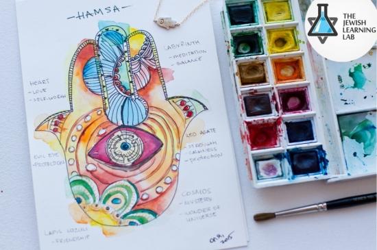 hamsa watercolour workshop