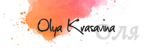 Olya Krasavina: Watercolor Artist logo